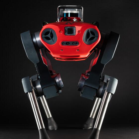 ANYmal C legged robot frontal view studio
