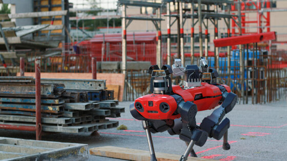 ANYmal C legged robot autonomously inspecting construction sites