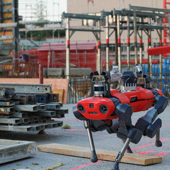 ANYmal C legged robot autonomously inspecting construction sites
