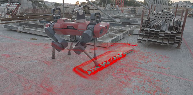ANYmal robot performing thermal inspection