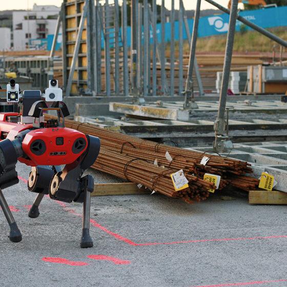 ANYmal C Legged Robot tackling construction safety