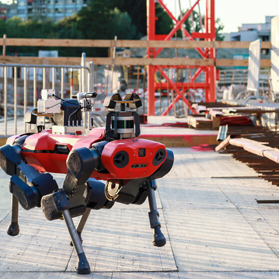 ANYmal C legged robot construction inspection mission