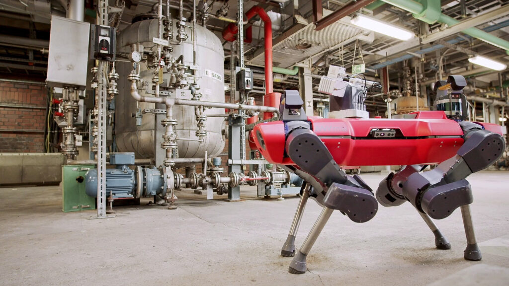Robotic visual, thermal, and acoustic condition monitoring at BASF chemical plant with ANYmal