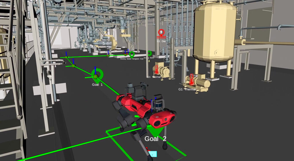 User interface for simulation of robotic mission planning at BASF chemical plant