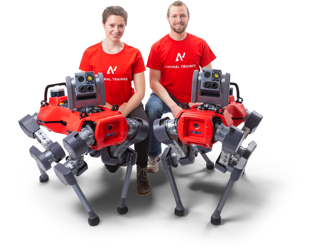 ANYmal legged robot support team