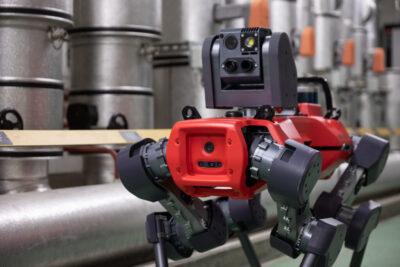 ANYmal legged robot pan-tilt inspection unit