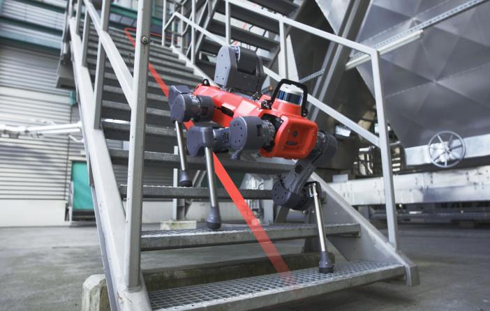 ANYmal legged robot autonomous on stairs