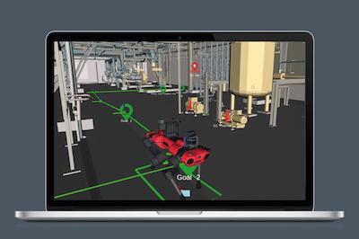 ANYmal legged robot simulation